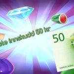 minimum innskud 50 kroner